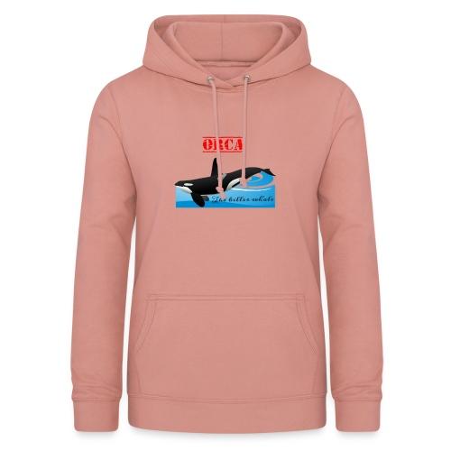 Orca La Balena Assassina Maglietta Uomo Donna 2018 - Felpa con cappuccio da donna