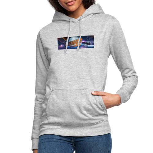 Darknightradio logo - Felpa con cappuccio da donna