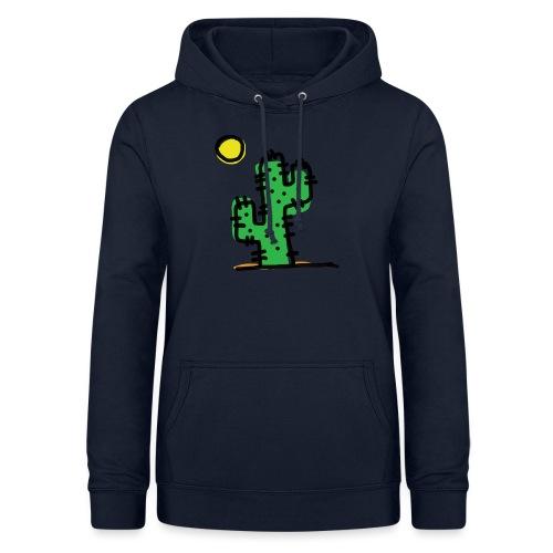 Cactus single - Felpa con cappuccio da donna