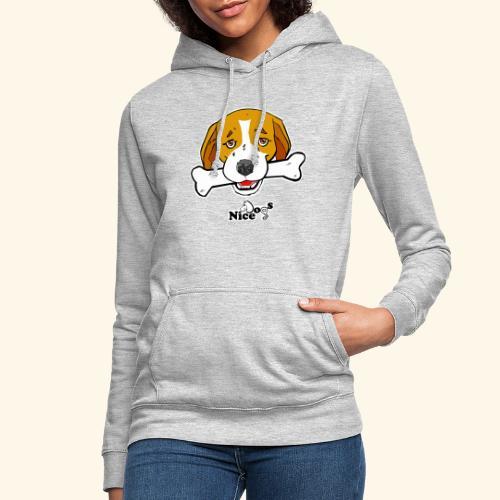 Nice Dogs Semolino - Felpa con cappuccio da donna