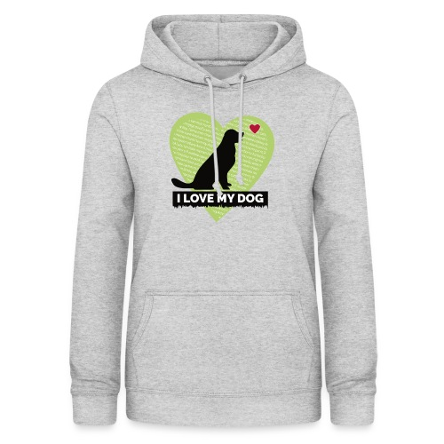 I LOVE MY DOG HEART - Women's Hoodie