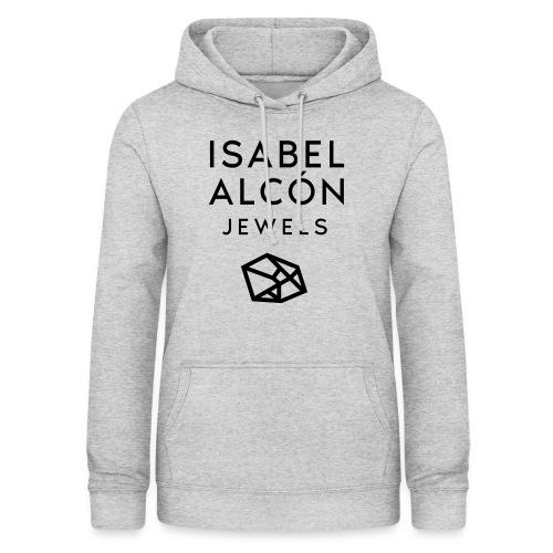 ISABEL ALCÓN JEWELS - BLACK SQUARE LOGO - Sudadera con capucha para mujer