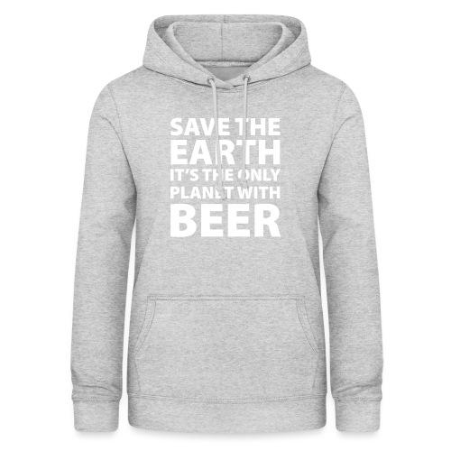 bear - sauve la terre - Sweat à capuche Femme
