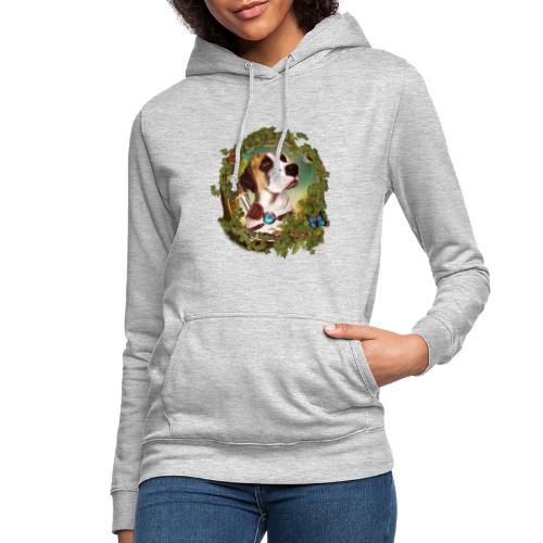 Fantasy Dog - Felpa con cappuccio da donna