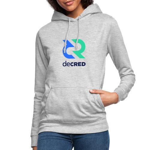 Decred logo vertical color dark - Vrouwen hoodie