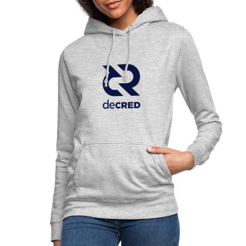 Decred logo vertical dark - Vrouwen hoodie