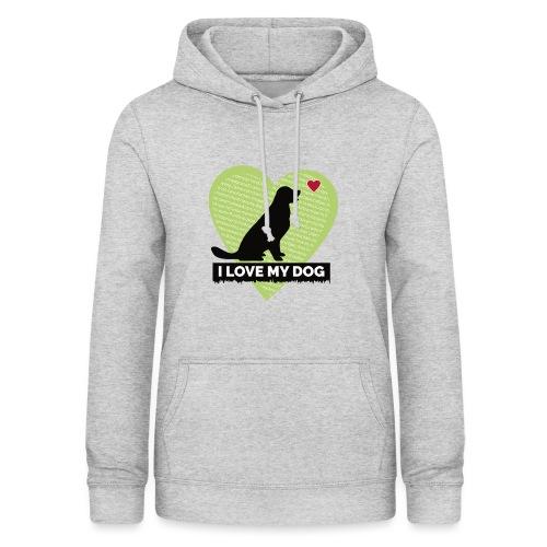 I LOVE MY DOG HEART - Women's Hoodie