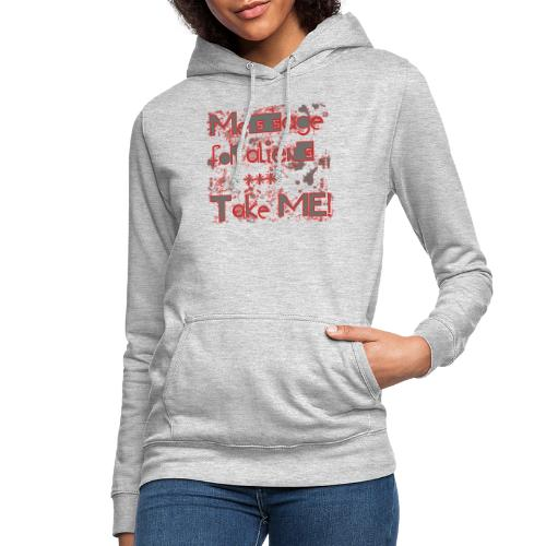 message for aliens PNG rood - Vrouwen hoodie