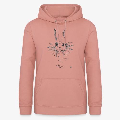 crazy rabbit - Felpa con cappuccio da donna