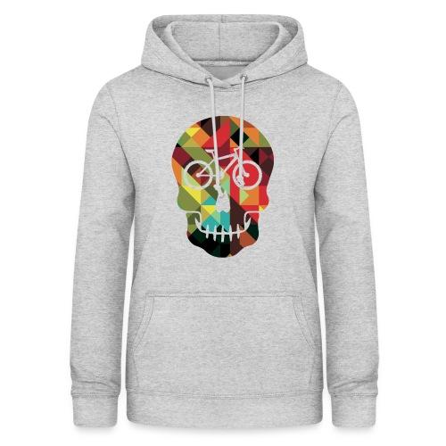 Colored Skull of Biker - Felpa con cappuccio da donna