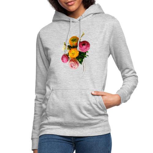 Bouquet de renoncules - Sweat à capuche Femme