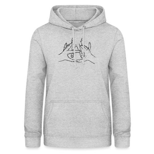 anarchy hands - Sudadera con capucha para mujer