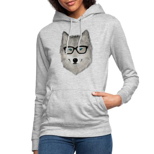 wild animal with glasses V02 - Sudadera con capucha para mujer