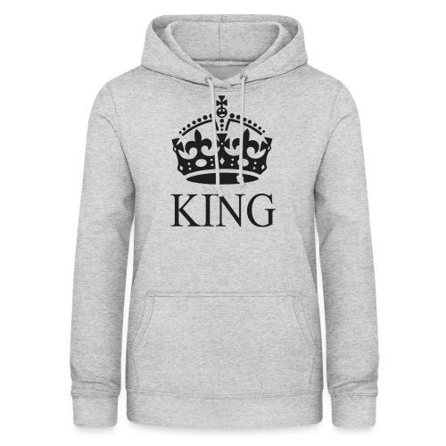 king - Sudadera con capucha para mujer