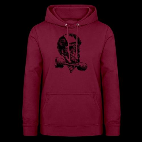 Skull Longboard Rider - positive print - Sweat à capuche Femme