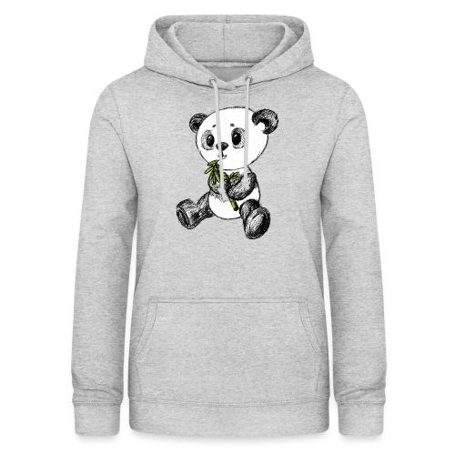 Panda bjørn farvet scribblesirii - Dame hoodie