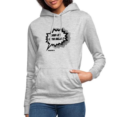 Das Leben an den Eiern packen MBP Logo - Frauen Hoodie
