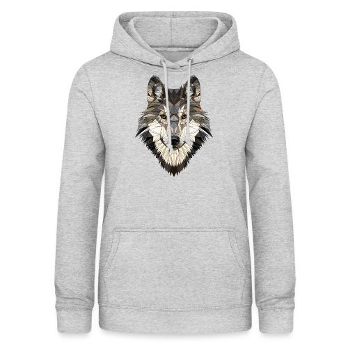 wolf, polygon design, unique - Women's Hoodie
