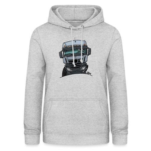 0807 M Truck grijs - Vrouwen hoodie