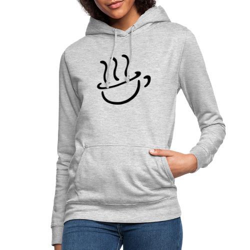 Steaming coffee logo - Sudadera con capucha para mujer