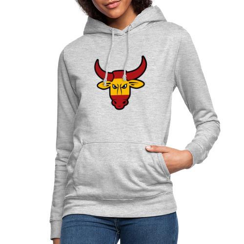 Toro Face - Sudadera con capucha para mujer