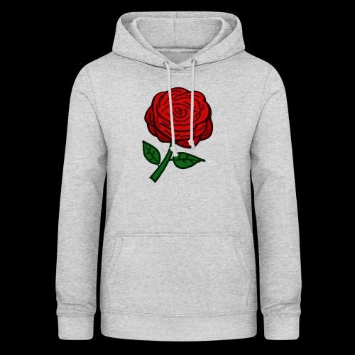 Rote Rose - Frauen Hoodie
