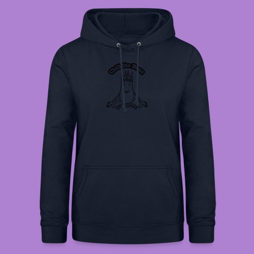 Chill the Bean black outline - Women's Hoodie