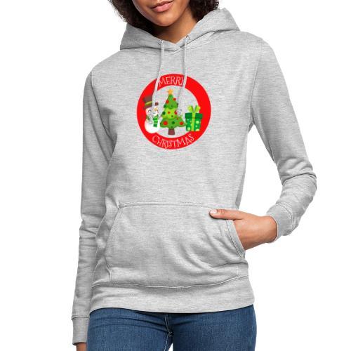 merry christmas 01 - Sudadera con capucha para mujer