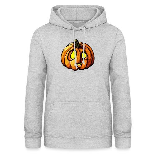 Pumpkin Halloween watercolor scribblesirii - Dame hoodie