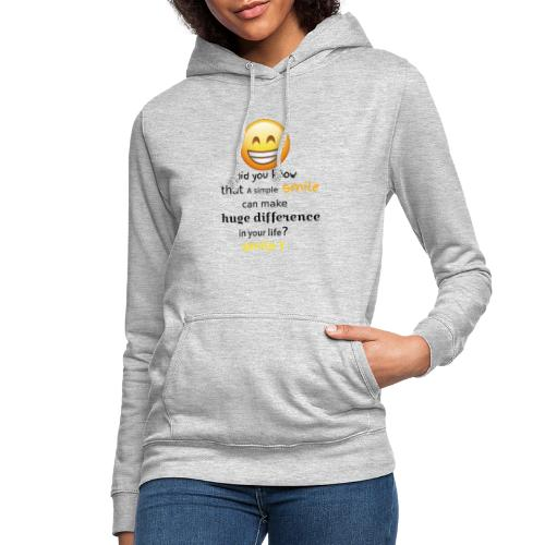 SMILE - Felpa con cappuccio da donna