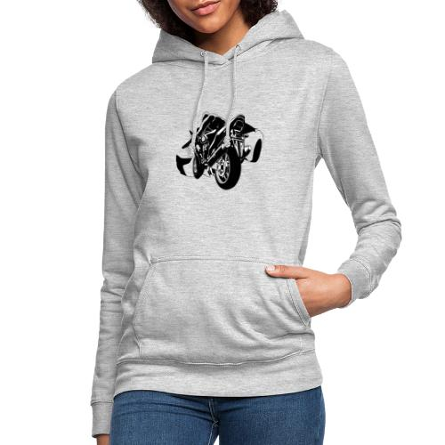 moto con carro - Sudadera con capucha para mujer