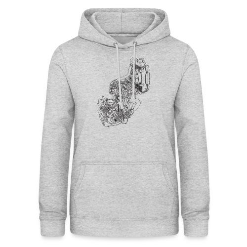nx250 motorblok transparant - Vrouwen hoodie