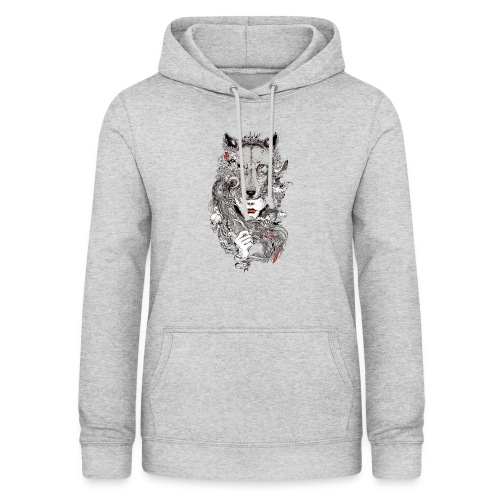 gray wolf Ladys INDP schwarz - Frauen Hoodie