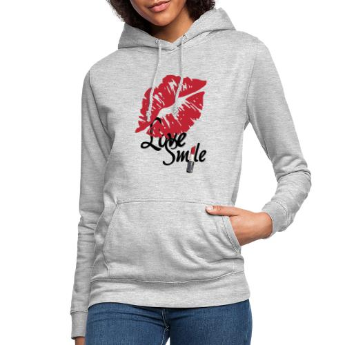 love smile - Sudadera con capucha para mujer