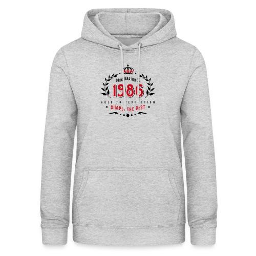 original since 1986 simply the best 30th birthday - Women's Hoodie