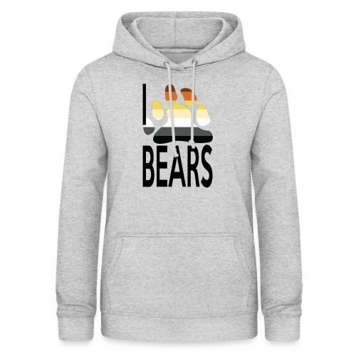 I love bears - Sweat à capuche Femme