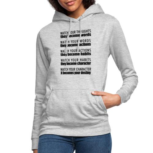 watch your thoughts - Women's Hoodie