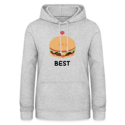 hamburger - Felpa con cappuccio da donna