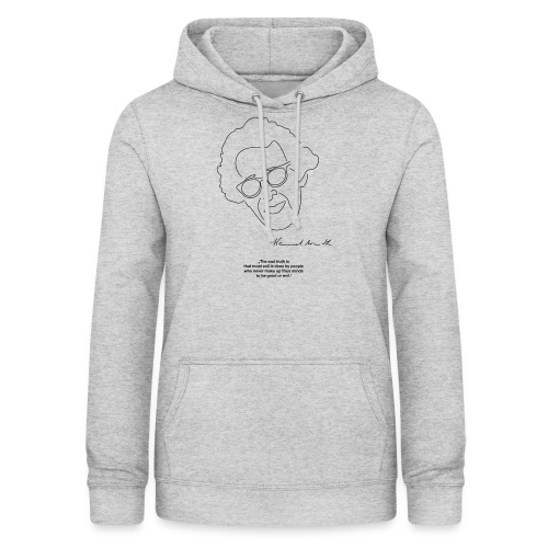 Hannah Arendt Sketch and Quote black - Frauen Hoodie