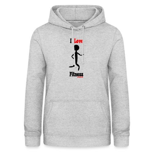 Fitness #FRASIMTIME - Felpa con cappuccio da donna