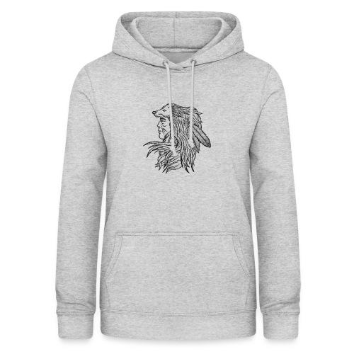 Native American - Felpa con cappuccio da donna
