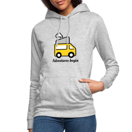 Adventures begin where plans end - Frauen Hoodie