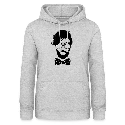 hipster_med_briller_og_butterfly - Dame hoodie