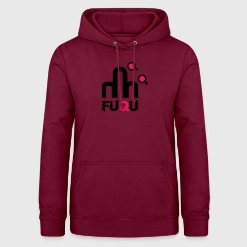 T-shirt FUQU logo colore nero - Felpa con cappuccio da donna