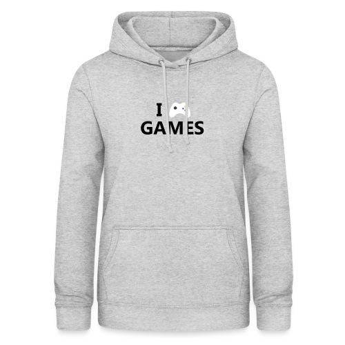 I Love Games - Sudadera con capucha para mujer
