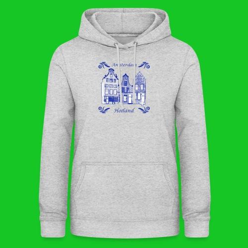 Holland Grachtenpanden Delfts Blauw - Vrouwen hoodie