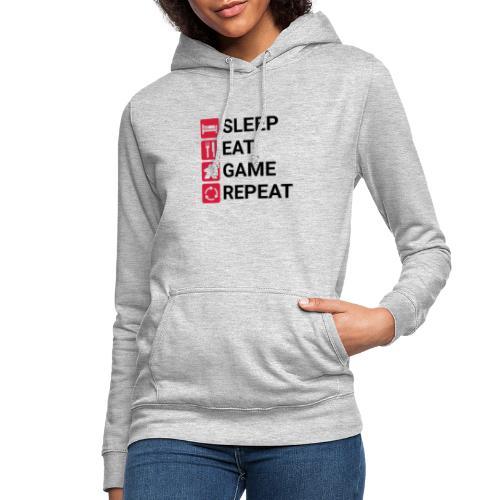 SLEEP, EAT, GAME, REPEAT - Hettegenser for kvinner