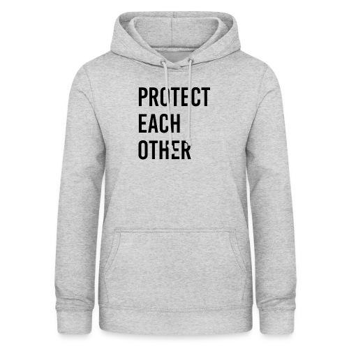 protect each other - Corona Mask - Frauen Hoodie