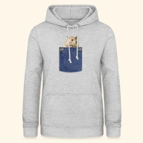 hamster in the poket - Felpa con cappuccio da donna