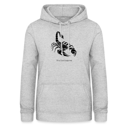 Scorpion noir - Sweat à capuche Femme